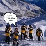 Auch Skilehrer verlieren mal die Orientierung