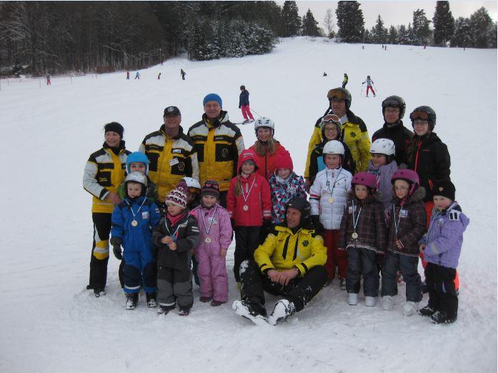 Gruppenbild Skikurs 1 17. Januar