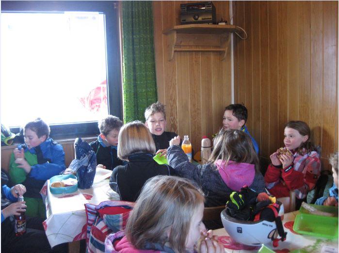 Pause im Skilift-Häusl