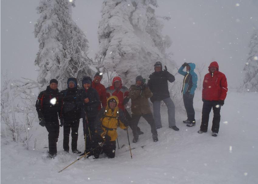 Lusen Gipfel Schneemanderl