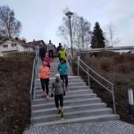 Laufgruppe mit Trainerin